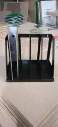 Mild Steel Open Storage Ms file rack stand, For Office use