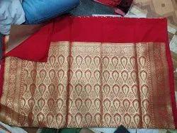 Banarasi Silk Red Power Loom Saree