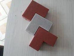 L Shaped Silicone Plastic Paver Block Mould