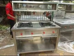 KIING'S Stainless Steel Chole Bhature Counter