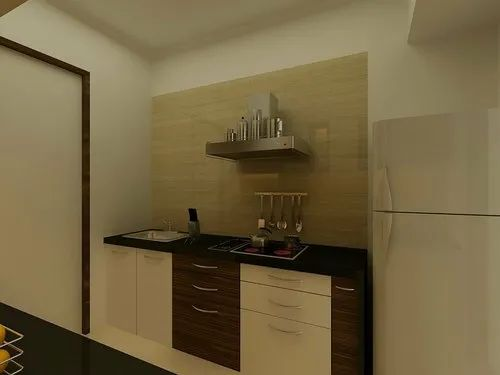 Straight Modern Wooden Modular Kitchen, Base Unit Height: In Ply, Base Unit Depth: Depends On Size, In Ply