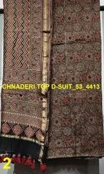 Ajrakh Design Chanderi Silk 2 pc Suit Materials