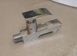 Polished Stainless Steel Bib Cock Tap, Packaging Type: Box