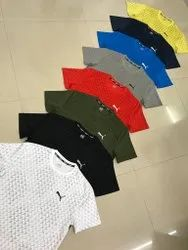 Printed Polyester Sports T Shirts, Size: Large