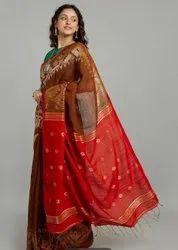 Linen Dhakai Jamdani sarees