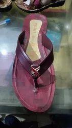Free Style Red Pu Chappal, Size: 5*8