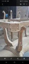 Natural Sagwan wood dinning chair, For Home