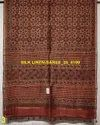 Silk Linen Natural Dyed Ajrakh Hand Painted Sarees