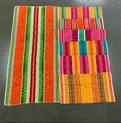 Multicolor Jacquard Floral Lotus Cotton Terry Towel, 450 GSM, Size: 30 X 60 Inch