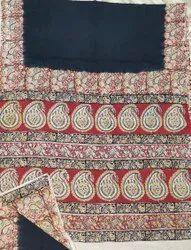Handmade Original Kalamkari Block Printed using ALL NATURAL DYES Mullmull Cotton Saree