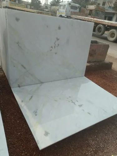 Indian Slab White Marble, Application Area: Flooring, Thickness: 10-15 mm