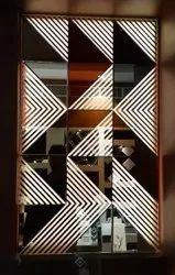 Multicolor Backlit Designer Glass, For Home, Thickness: 5mm