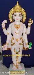 Marble Dhanvantri statue