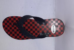 Hawaii Black & red rubber slipper, 17 Mm, Size: 6x10