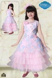 Baby Pink Women Girls Party Wear Frocks, Size: 20-30