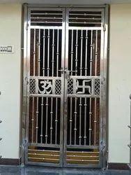 Standard Silver 202 Stainless Steel Doors, Double Door, Thickness: 1.2mm