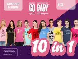 go baby Round Neck Tshirt Half Sleeves T Shirt, Age Group: 18 To 60