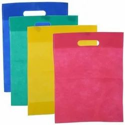 Plain Non Woven D Cut Carry Bag, For Grocery