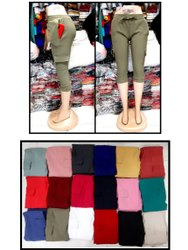 Cotton/Lnen Plain Girls Cargo Pant , 3/4 Cargo , Women Cotton 3/4 Cargo, Size: 28 To 34 Waist Xl