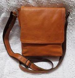 Unisex Leather Side Sling Bag