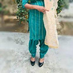 Stitched palazzo. salwar. gharara designer salwar suit of ladies and garara, Machine wash