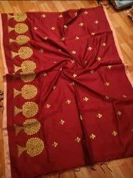 Handloom Flower Thread Weaving Sarees