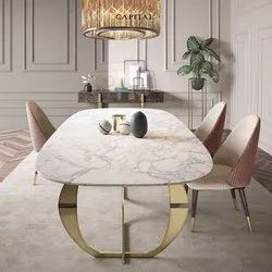 Dimensions: Good 35 Kg To 90 Kg Marble Top Dining Table