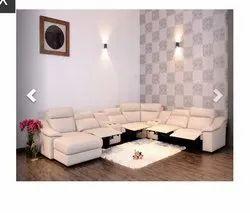 Leather L Shape Recliner Sofa Set