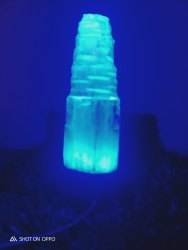 Selenite Lamp Blue Colour