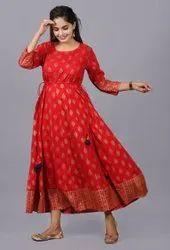 Rayon Embroidered Ladies Designer Dress, 15. -50