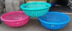Plastic round basket