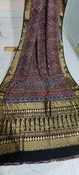 Ajrakh Design Silk Sarees