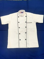 Cotton White Mens Half Sleeves Chef Coat, For Kitchen, Size: Medium