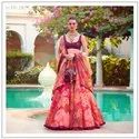 Sabya red Printed Lehenga Choli