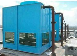 125 Tr Frp Induced Draft Water Cooling Tower Size 2400X2400X3000MM