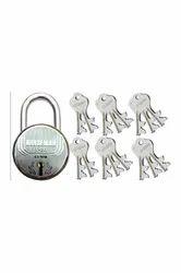 Normal Main Door One Pcs Lock With 12/16 Pcs Keys, Padlock Size: 65 Mm