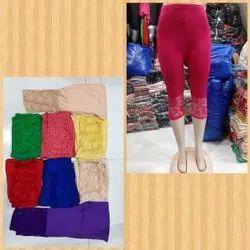 Cotton Stretch 3/4 ,Women Shorts , Women 34th Pant, Lycra 3/4, Girls 3/4 ,Women Shin Length
