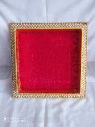 Raza Agencies Mdf Square Decorative Tray, For Gift, Size: 8*8
