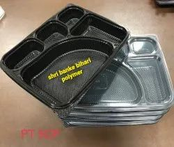 Disposable Plastic Meal Tray 5 Cp
