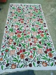 Embroidery Work Cotton Crewel Curtains With Embroidered Works, Size: 4*8