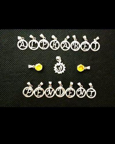 Sterling Silver Alphabet Pendant (plain)