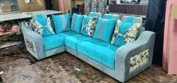 L Shaped Fabric Sofa Set