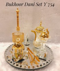 Brass Bakhoor Burner Set