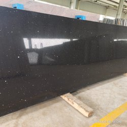 Slab Black Galaxy Granite, Thickness: 20-25 Mm