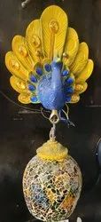Non-Brand Gold, LED Peacock Wall Lamp