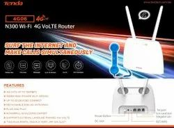 Wireless or Wi-Fi White Tenda 4g06 Sim Based 4G Router, For Wifi, 300mbps