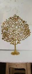 Yellow Brass Tree, For Decoration, Size: 16 Inch