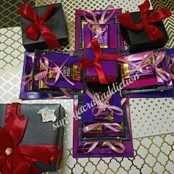 Red Paper Chocolate box card