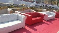 White Wooden structure Tent house sofa Manufacturer and supplier, Size: Two Seater