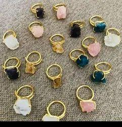 Rose quartz rings